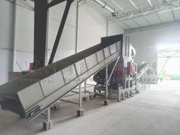 山东1200型家电破碎机安装调试现场